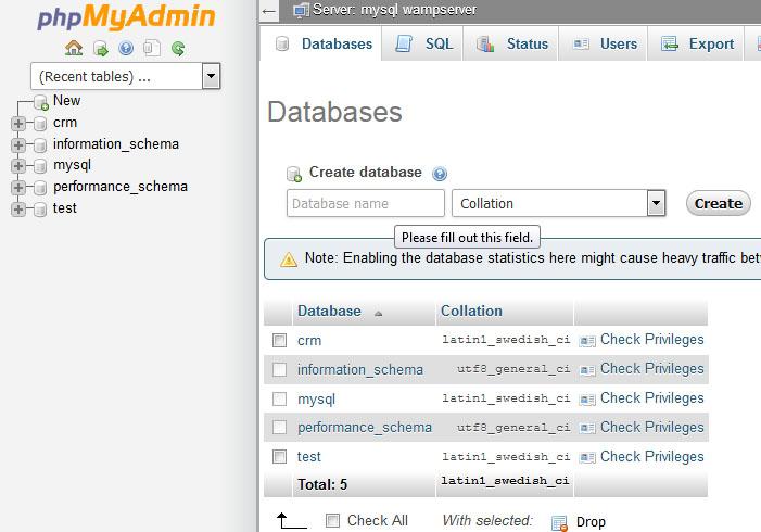 Cara membuat database di wamp