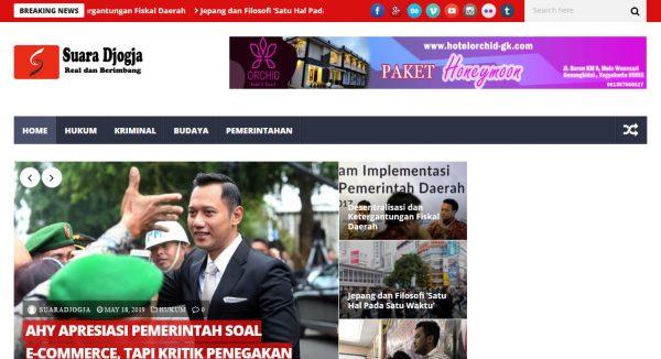 karya Desain Website portal berita