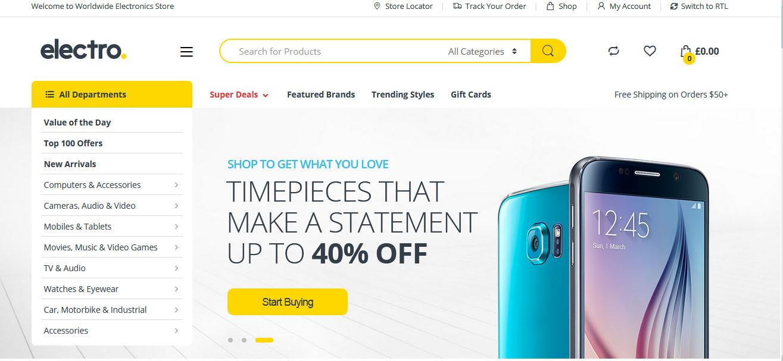 header website toko online
