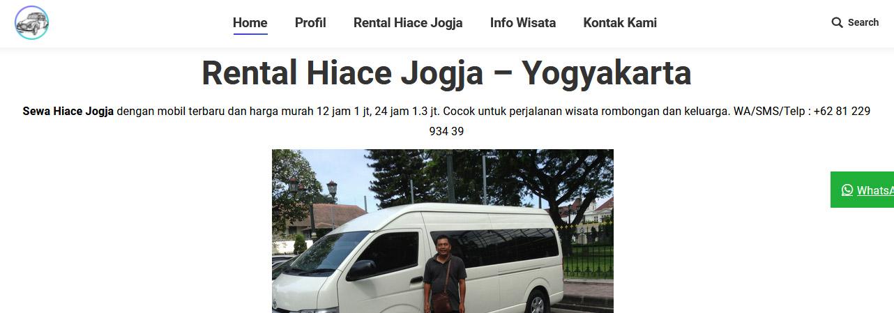 profile rental mobil
