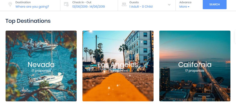 fitur website top destinasi wisata