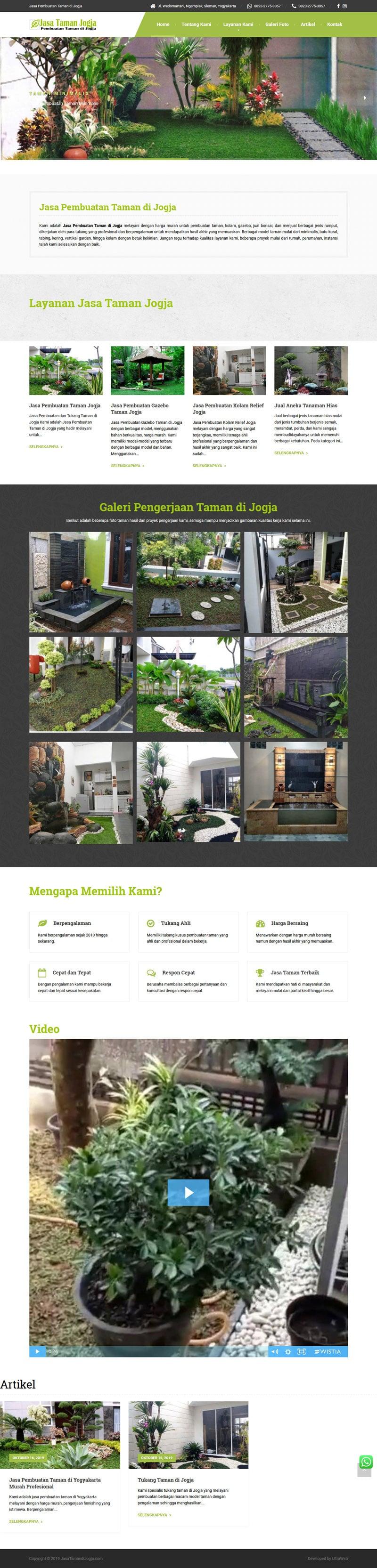 Pembuatan Website Jasa Taman