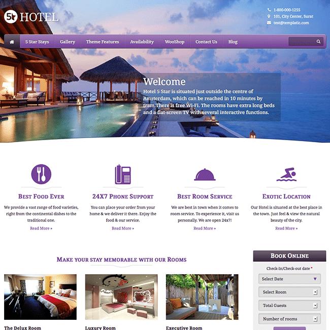 desain website hotel
