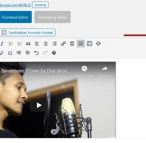 cara menempel video youtube pada website