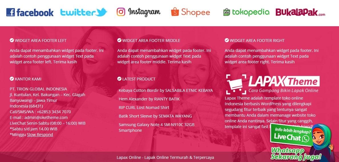 footer toko online