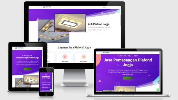 portfolio website jasa plafond jogja