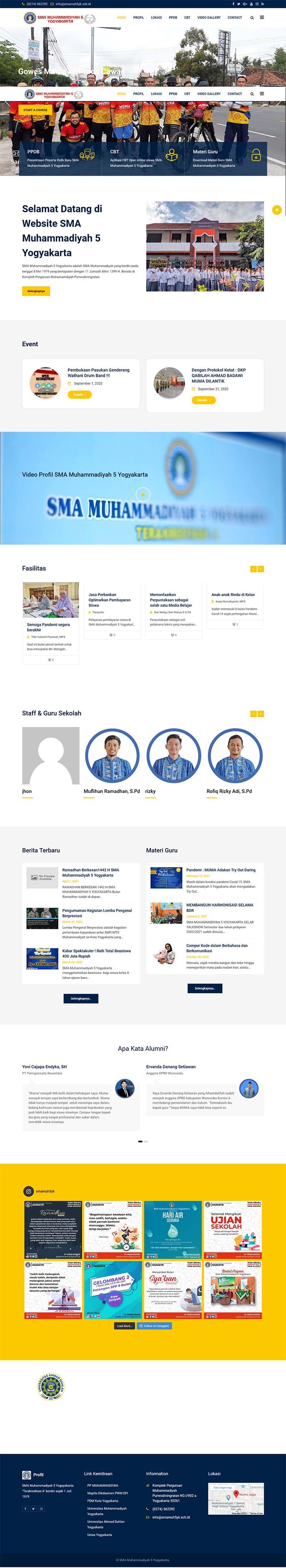 Pilihan Desain Website Sekolah 1