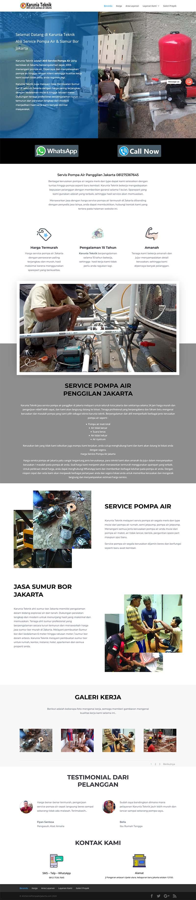 contoh website usaha 2