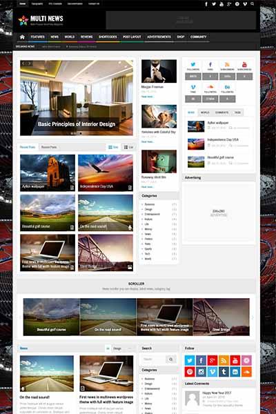 demo website berita