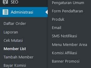pengaturan pada web replika